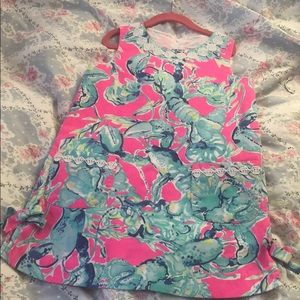 Girls Blue Lobster Dress